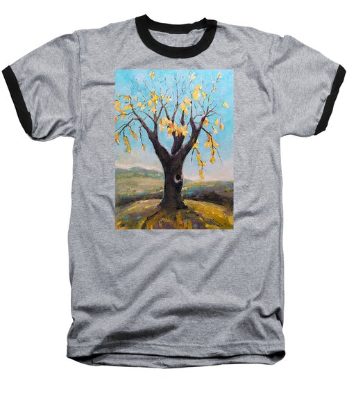 Baseball T-Shirt featuring the painting Fall Tree In Virginia by Becky Kim
