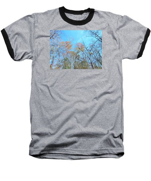Baseball T-Shirt featuring the photograph Fall Trees by Kay Gilley