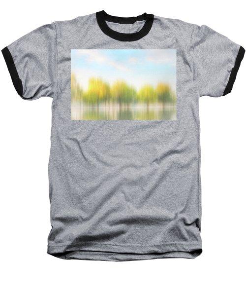 Fall Trees On Flooded Lake Baseball T-Shirt by Robert FERD Frank