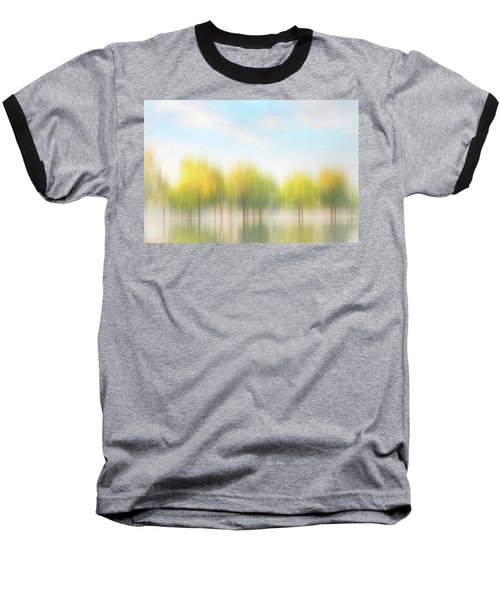 Fall Trees On Flooded Lake Baseball T-Shirt