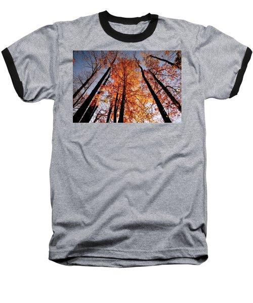 Baseball T-Shirt featuring the photograph Fall Trees Sky by Meta Gatschenberger