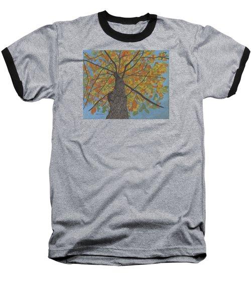 Fall Up Baseball T-Shirt by Arlene Crafton