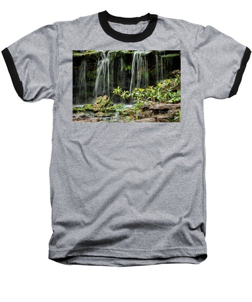 Falling Falls In The Garden Baseball T-Shirt