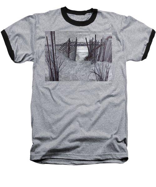 Falling Fence Baseball T-Shirt