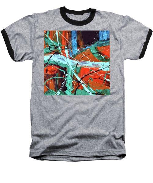 Falling Into Autumn Baseball T-Shirt by Donna Blackhall