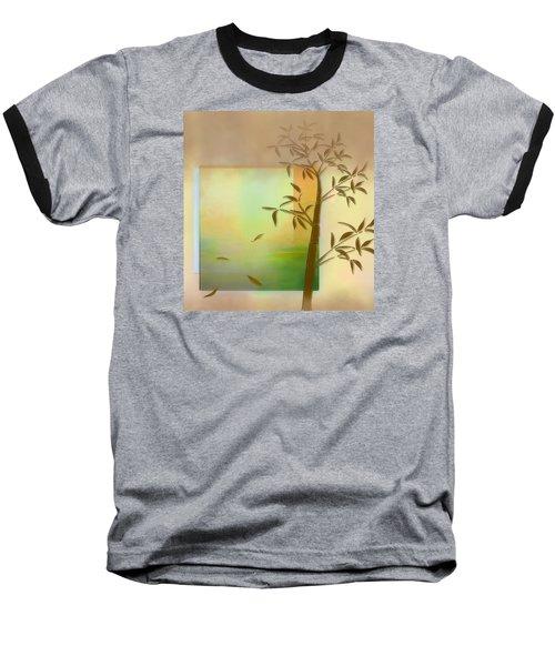 Falling Leaves Baseball T-Shirt by Nina Bradica