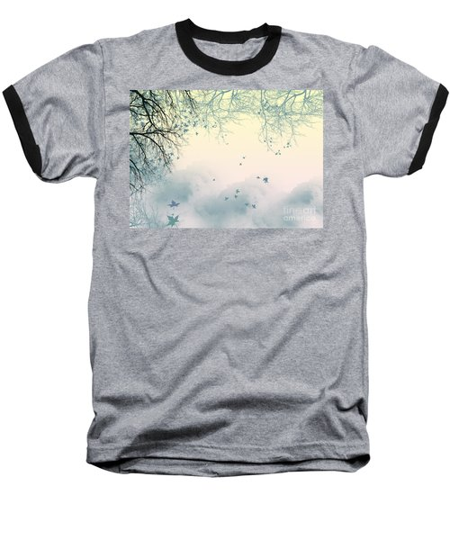 Falling Leaves Baseball T-Shirt by Trilby Cole