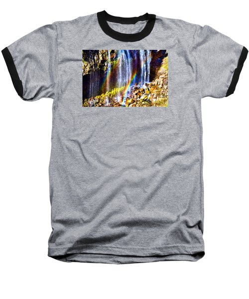 Baseball T-Shirt featuring the photograph Falling Rainbows by Anthony Baatz