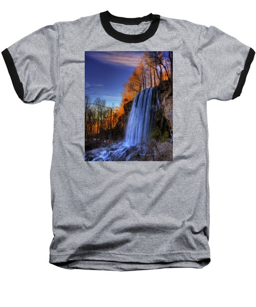 Falling Spring Falls Baseball T-Shirt by Steve Hurt