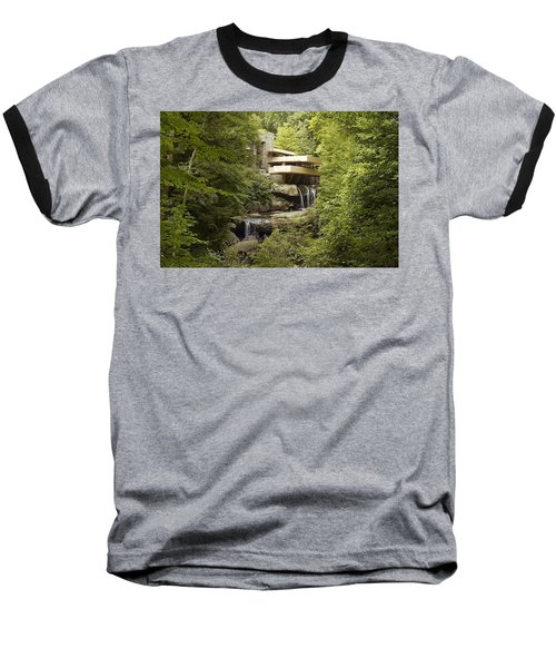 Falling Water Baseball T-Shirt by Carol Highsmith