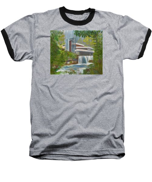 Falling Water Baseball T-Shirt by Jamie Frier