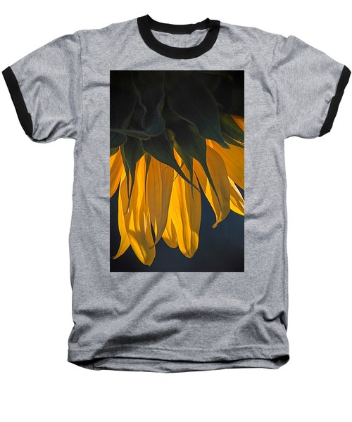 Falling Yellow  Baseball T-Shirt
