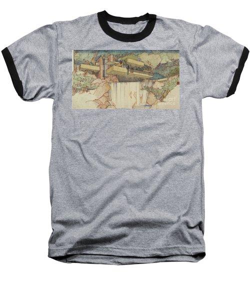 Fallingwater Pen And Ink Baseball T-Shirt