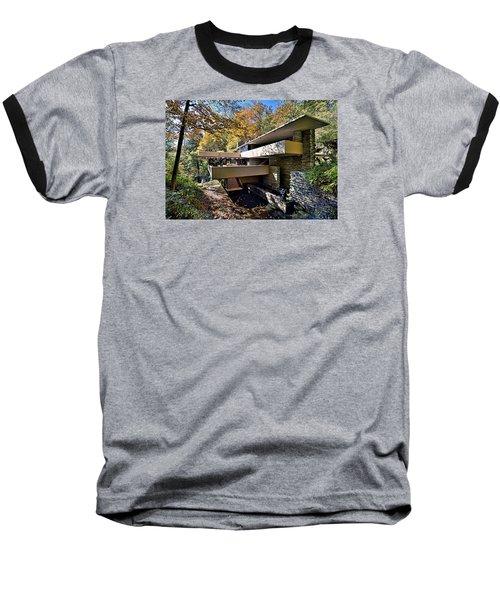 Fallingwater Pennsylvania - Frank Lloyd Wright Baseball T-Shirt by Brendan Reals