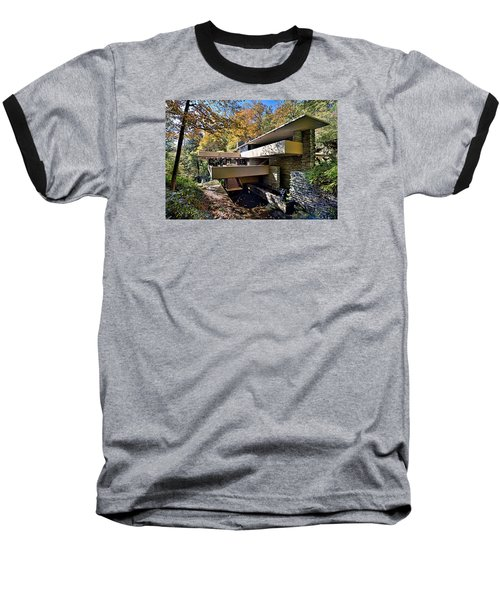 Fallingwater Pennsylvania - Frank Lloyd Wright Baseball T-Shirt