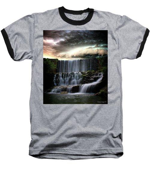 Falls At Mirror Lake Baseball T-Shirt