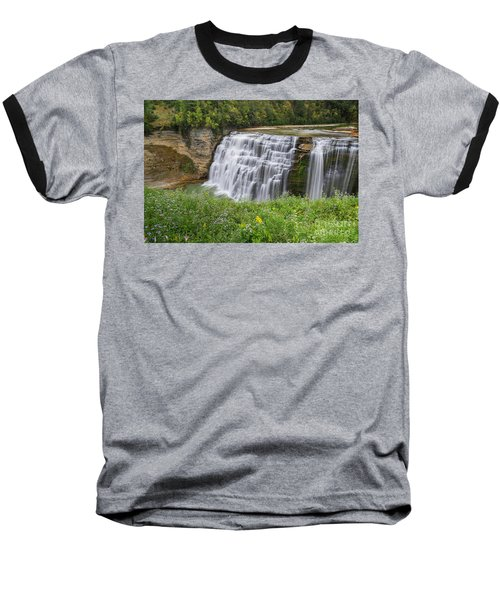 Autumn Flower Of Letchworth Middle Falls Baseball T-Shirt