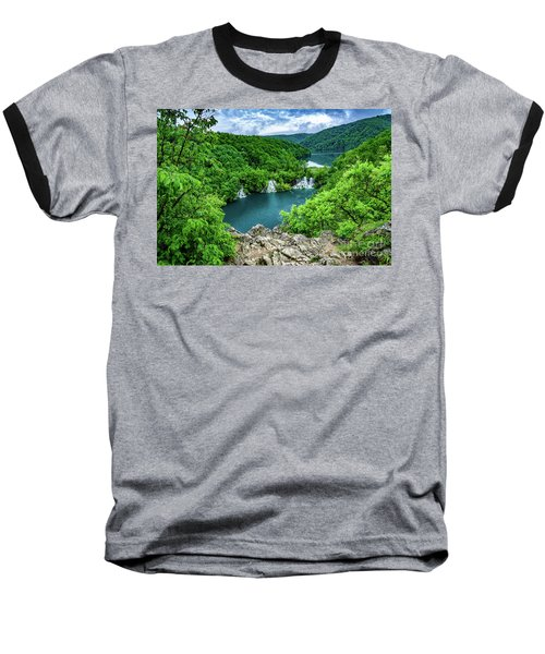 Falls From Above - Plitvice Lakes National Park, Croatia Baseball T-Shirt