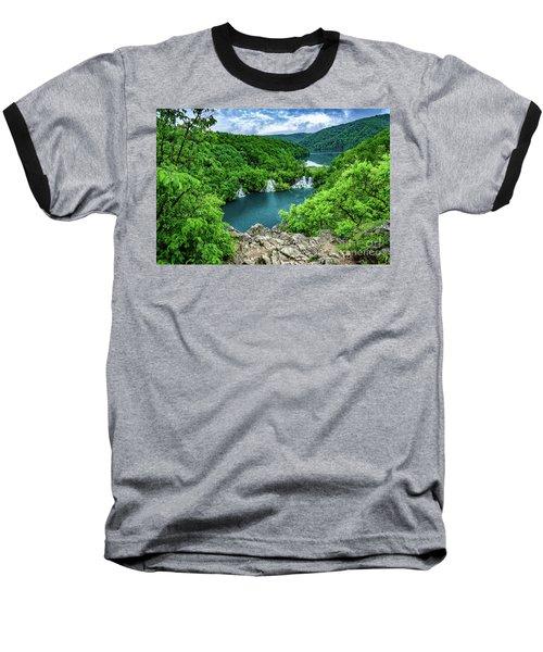 Falls From Above - Plitvice Lakes National Park, Croatia Baseball T-Shirt