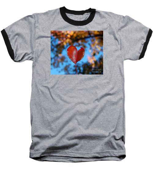 Fall's Heart Baseball T-Shirt