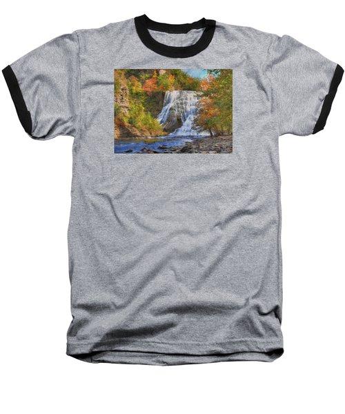 Falls In New York Baseball T-Shirt by Sharon Batdorf