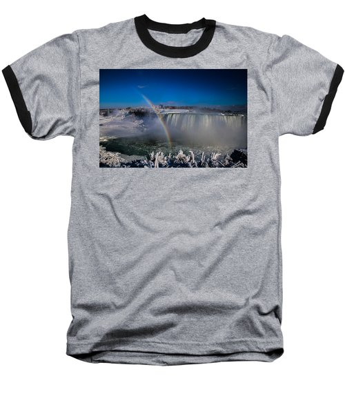 Falls Misty Rainbow  Baseball T-Shirt