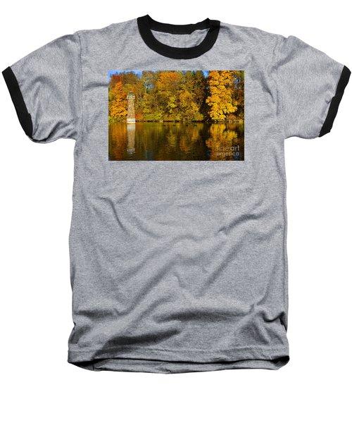 Falls Park Lighthouse In Fall Baseball T-Shirt