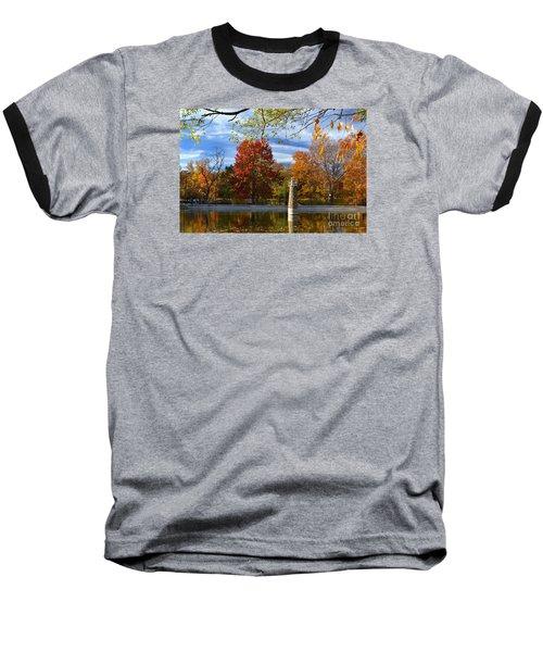 Falls Park Pond Lighthouse Baseball T-Shirt