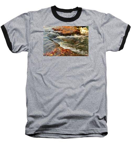 Falls Park Sunset Waterfall Baseball T-Shirt