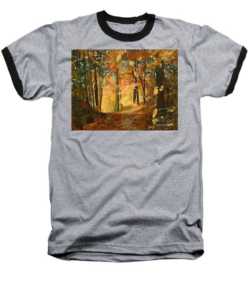 Fall's Radiance In Quebec Baseball T-Shirt