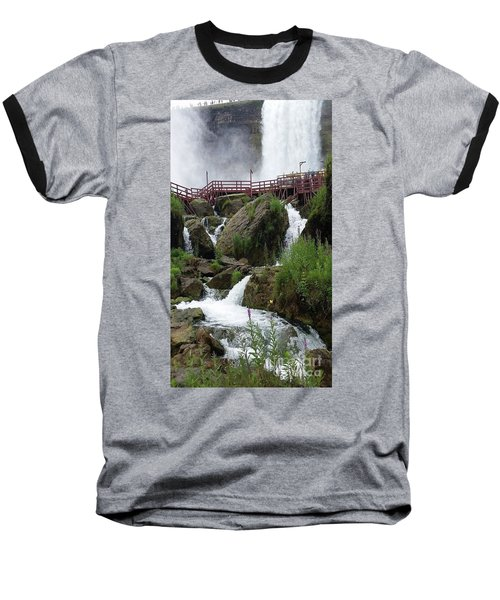 Baseball T-Shirt featuring the photograph Falls by Raymond Earley
