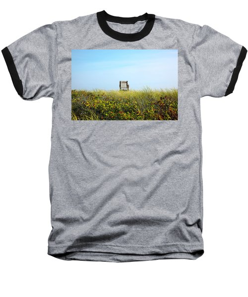 Baseball T-Shirt featuring the photograph Falmouth Beach Open 9-5 by Madeline Ellis