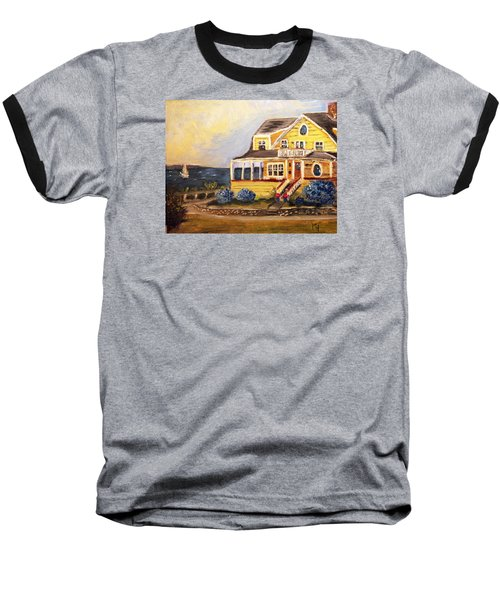 Falmouth Heights View Of Vineyard  Baseball T-Shirt