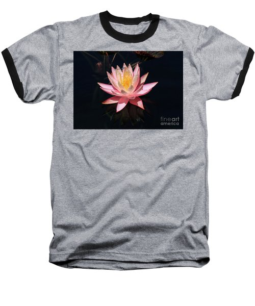 Familiar Bluet Damselfly And Lotus  Baseball T-Shirt