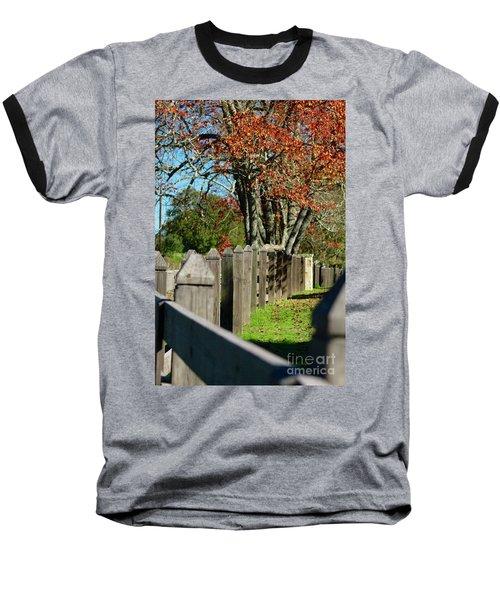 Familiar Fall Baseball T-Shirt by Lori Mellen-Pagliaro