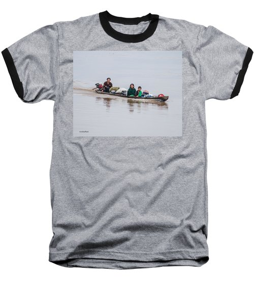 Family Boat On The Amazon Baseball T-Shirt