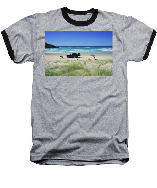Family Day On Beach With 4wd Car  Baseball T-Shirt