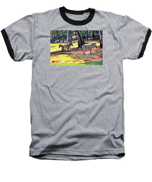 Family Of Four Baseball T-Shirt by James Potts