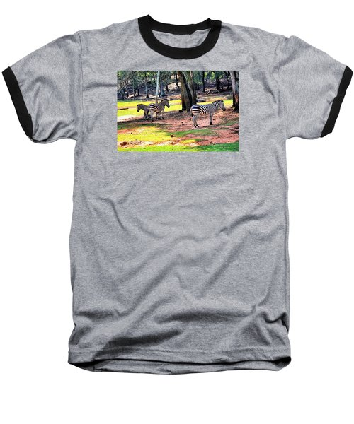 Family Of Four Baseball T-Shirt