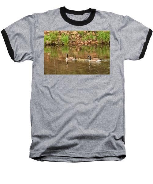 Family Of Geese Baseball T-Shirt