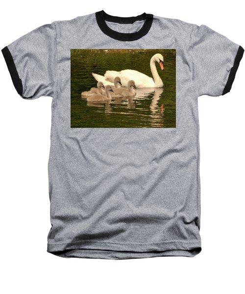 Family Swan  Baseball T-Shirt