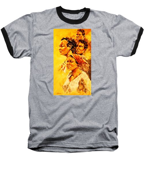 Baseball T-Shirt featuring the painting Family Ties by Al Brown