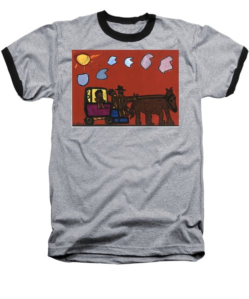 Family Transport Baseball T-Shirt by Darrell Black