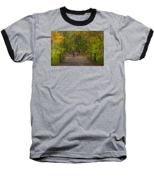 Family Walk At Borderland Baseball T-Shirt