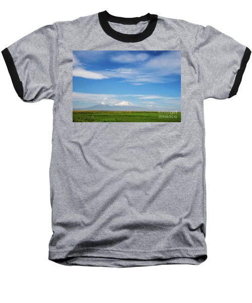 Famous Ararat Mountain Under Beautiful Clouds As Seen From Armenia Baseball T-Shirt
