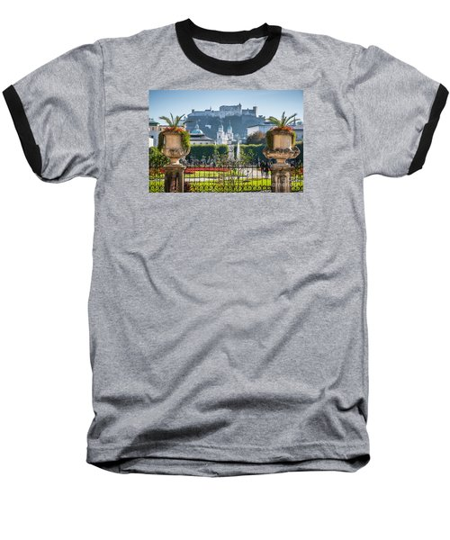 Famous Mirabell Gardens In Salzburg Baseball T-Shirt by JR Photography