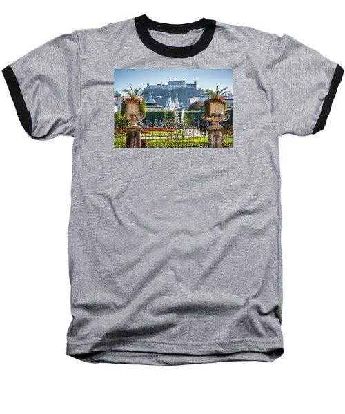 Famous Mirabell Gardens In Salzburg Baseball T-Shirt