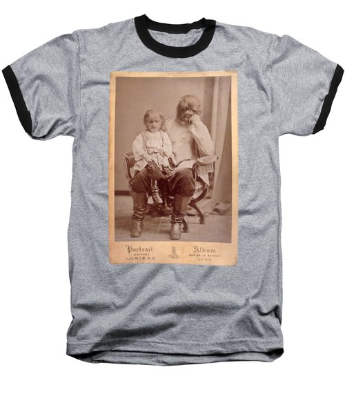Famous Russian Sideshow Performer Jo-jo The Dog-faced Boy Baseball T-Shirt by Celestial Images