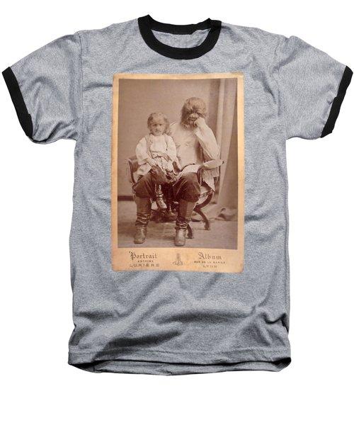 Famous Russian Sideshow Performer Jo-jo The Dog-faced Boy Baseball T-Shirt