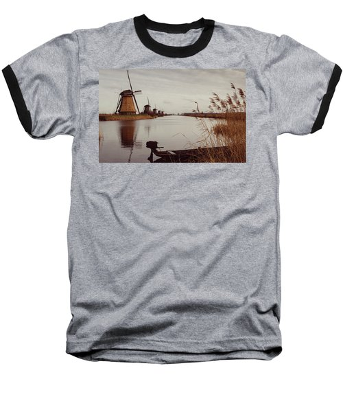 Famous Windmills At Kinderdijk, Netherlands Baseball T-Shirt
